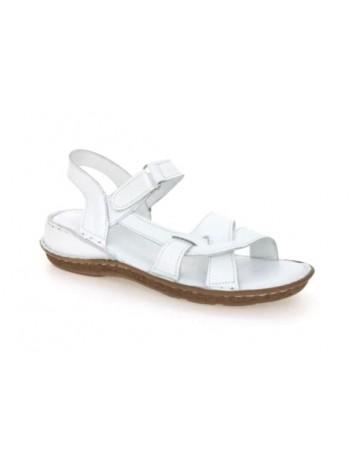 Skórzany komfortowy sandał damski T.Sokolski, Kolor biały