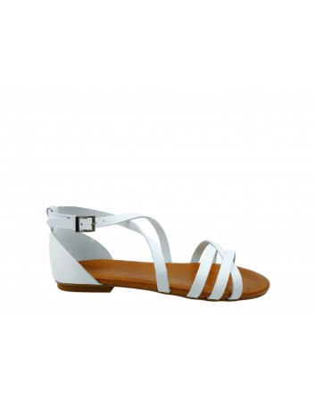 Skórzany sandał Porronet 2402, Kolor biały
