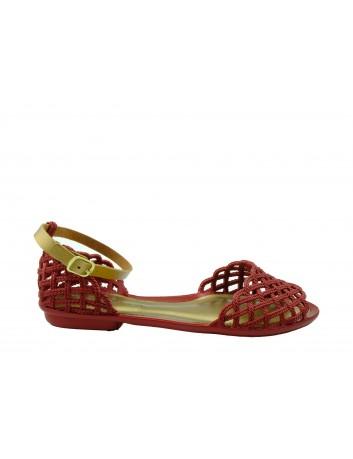 Sandały Terra & Agua KON 760000,Kolor czerwony