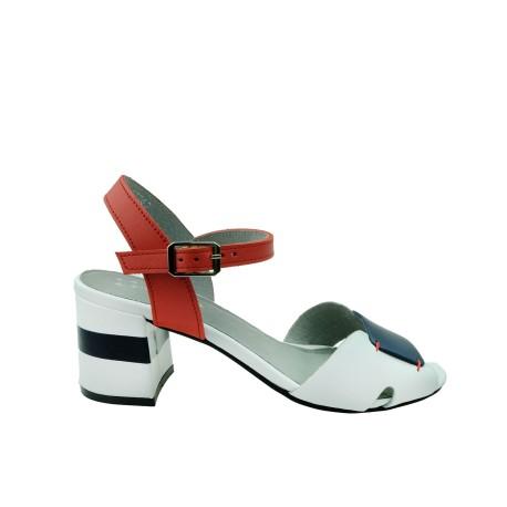 Sandał damski skórzany Maciejka 04120,Kolor biały