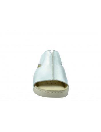 Skórzany klapek T.Sokolski SOK S900 BIALY-6,Kolor biały odcień srebrny