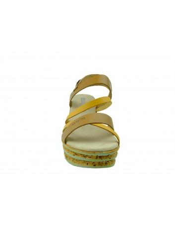 Sandały damskie BIG STAR DD274A052, Kolor brązowy z żółtym