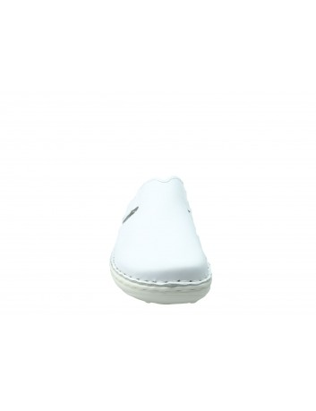 Skórzane saboty damskie STE 664, Kolor biały