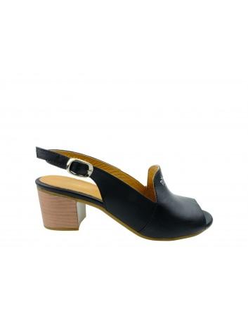 Sandały skórzane damskie 0436-501.311 T.Sokolski,Kolor czarny