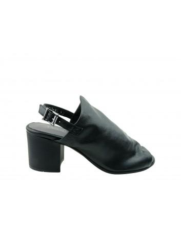 Sandały skórzane damskie 0637-9023 T.Sokolski,Kolor czarny