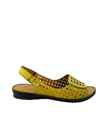 Sandały skórzane damskie T.Sokolski SUL 1414,Kolor żółty