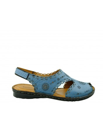 Sandały skórzane damskie T.Sokolski SUL 1502,Kolor niebieski