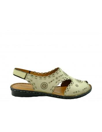 Sandały skórzane damskie T.Sokolski SUL 1502,Kolor beżowy
