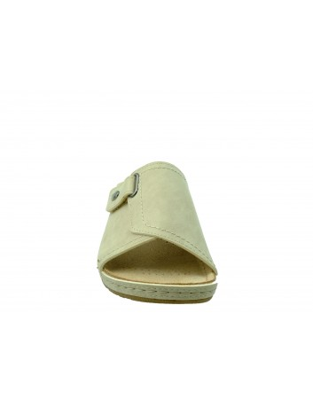 Skórzany klapek damski FLY SOFT BER S302-010,Kolor beżowy