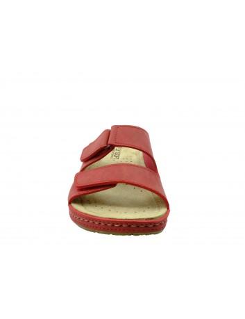 Skórzany klapek damski FLY SOFT BER S302.041,Kolor czerwony