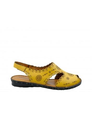 Sandały skórzane damskie T.Sokolski SUL 1502,Kolor żółty