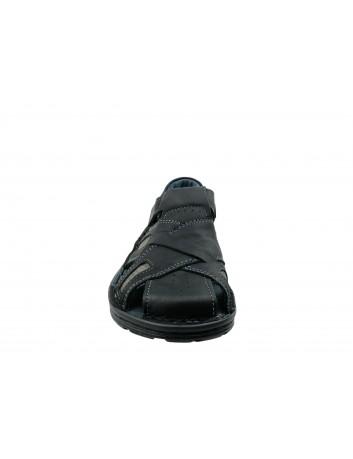 Sandał męski skórzany VINCI 204/63,Kolor czarny