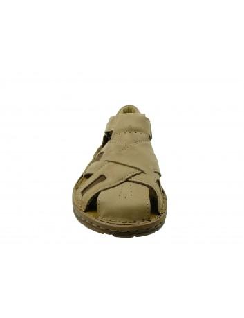 Sandał męski skórzany VINCI 204/63,Kolor beżowy