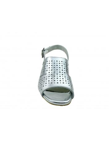 Sandały skórzane PIECH 2084,Kolor srebrny