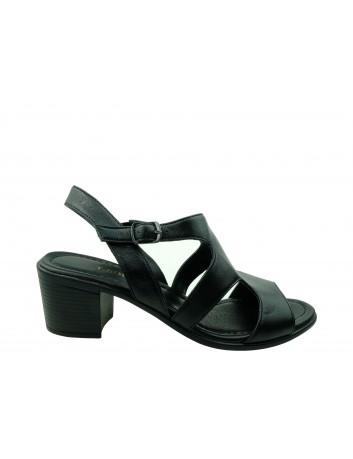 Sandały skórzane damskie ALP 2446 T.Sokolski, Kolor czarny