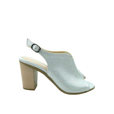 Sandały skórzane damskie SUL 6001 T.Sokolski, Kolor srebrny