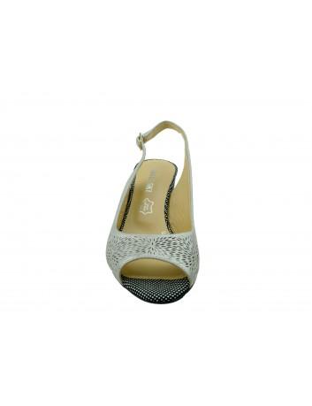 Sandały skórzane damskie LP 0240-DZ T.Sokolski, Kolor srebrny