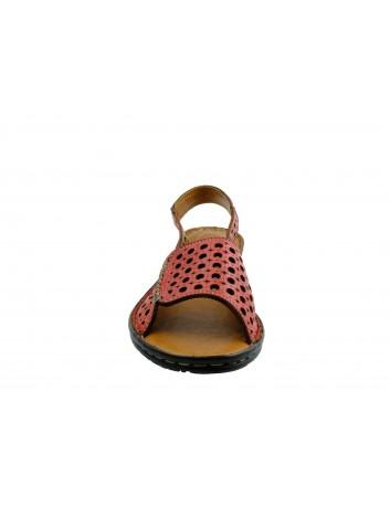 Sandały skórzane damskie T.Sokolski SUL 1414,Kolor czerwony