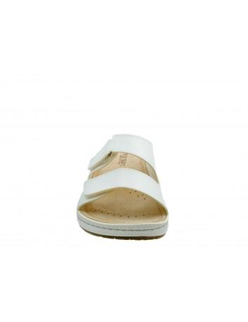 Skórzany klapek damski FLY SOFT BER S302.041,Kolor biały