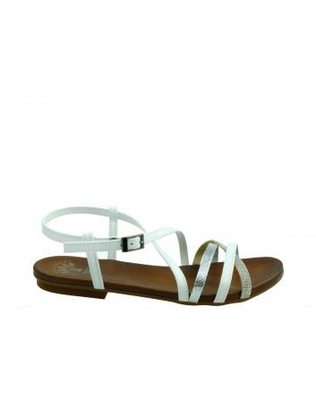 Skórzany sandał damski Porronet, Kolor biały