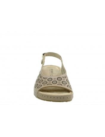 Skórzany sandał damski