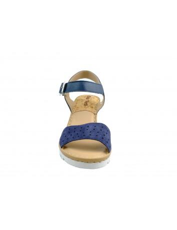 Skórzany sandał damski na koturnie Gaia Verdi