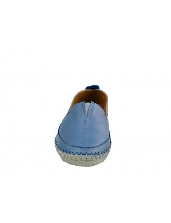 Skórzany wsuwany półbut T.Sokolski ARA 906, Kolor niebieski