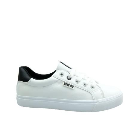 Trampki damskie BIG STAR EE274312, Kolor biały z czarnym