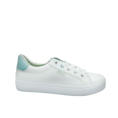 Trampki damskie BIG STAR EE274313, Kolor biały z zielonym