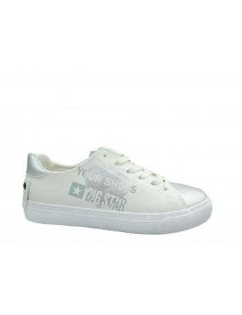 Trampki damskie BIG STAR BIG EE274241,Kolor biały ze srebrnym