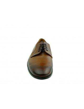 Półbut męski skórzany wizytowy ED 123C7,Kolor brązowy