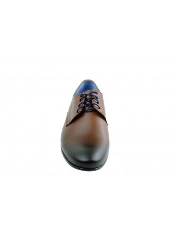 Półbut męski skórzany nikopol 1696,Kolor brązowy