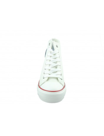 Trampki damskie BIG STAR EE274616, Kolor biały