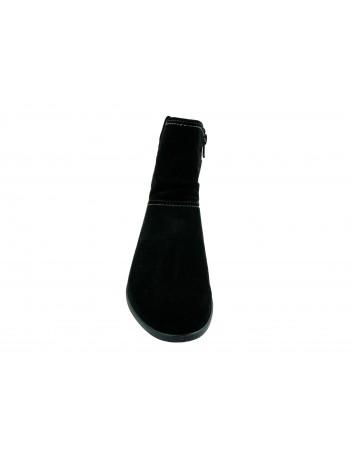 Botek damski skórzany Tamaris 1-25050-23B,Kolor czarny