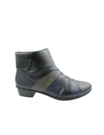 Botek damski Rieker Y0791-01S,Kolor czarny