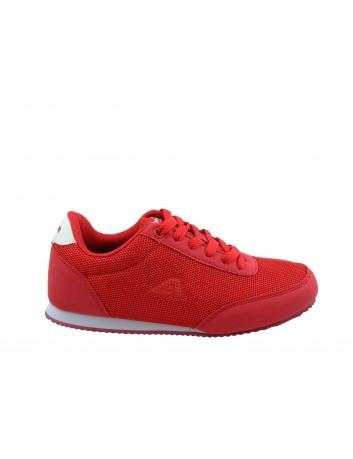 Młodzieżowy but sportowy American, WT 23/19,Kolor czerwony