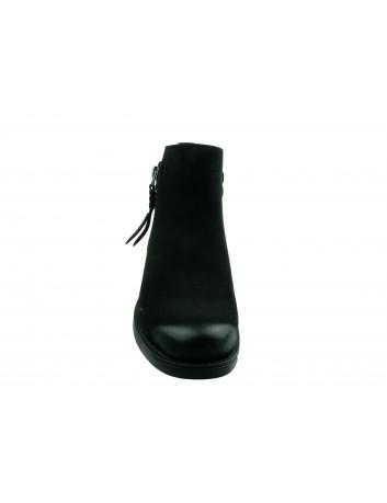 Botki damskie Sergio Leone BT554,Kolor czarny nubuk