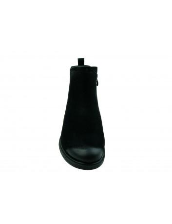 Botki damskie Sergio Leone BT553,Kolor czarny nubuk