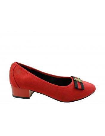 Czółenko damskie Goodin FL308,Kolor czerwony