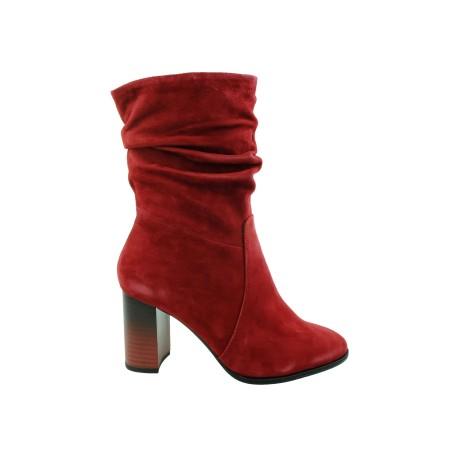 Botek damski skórzany Tamaris 1-25080-23B,Kolor czerwony