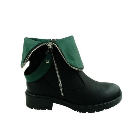 Botek damski VINCEZA HX 20-10478,Kolor czarny z zielonym