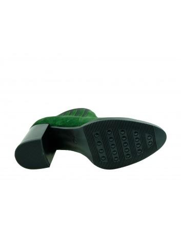 Botki damskie skórzane Maciejka 04301,Kolor zielony