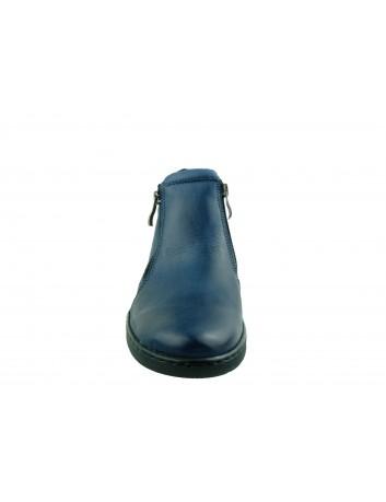 Botek damski skórzany Stella 4017, Kolor granat