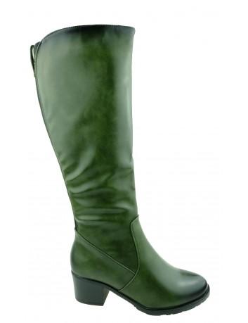Kozak damski M.Daszyński AR SA153-7,Kolor zielony