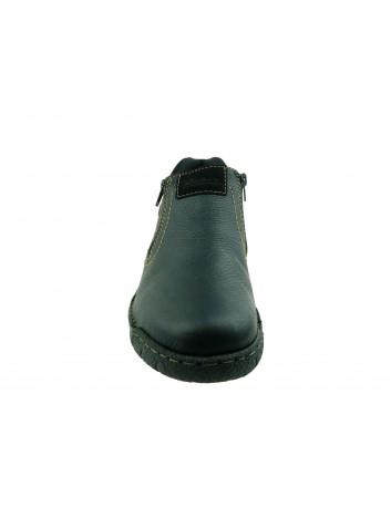 Botek męski skórzany Rieker B0392-00S,Kolor czarny