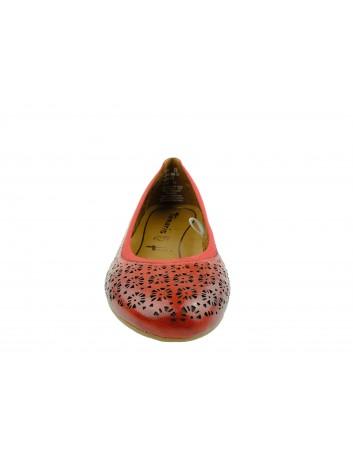 Balerina damska Tamaris 1-22107-24CH, Kolor czerwony