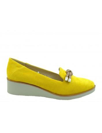 Półbut damski VINCEZA 20-10521,Kolor żółty