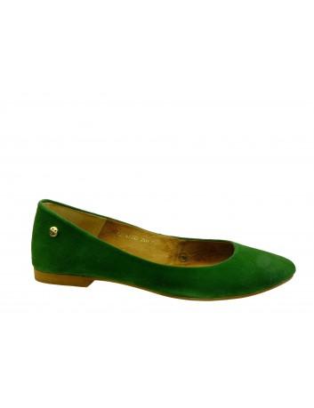 Balerina damska skórzana Maciejka 04100,Kolor zielony