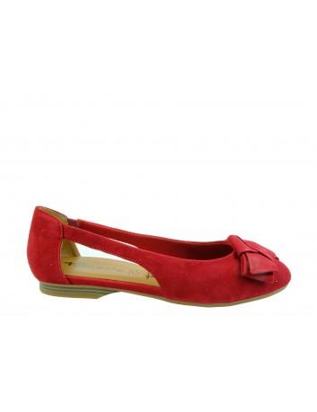 Balerina damska Tamaris 1-22106-22R,Kolor czerwony