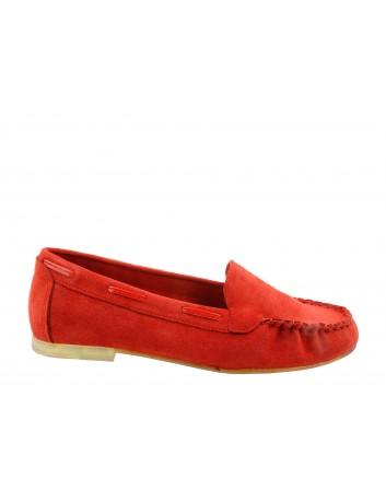 Mokasyn damski Sergio Leone MK722,Kolor czerwony
